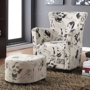 Brunwood Marilyn Monroe Print Club Chair wit..