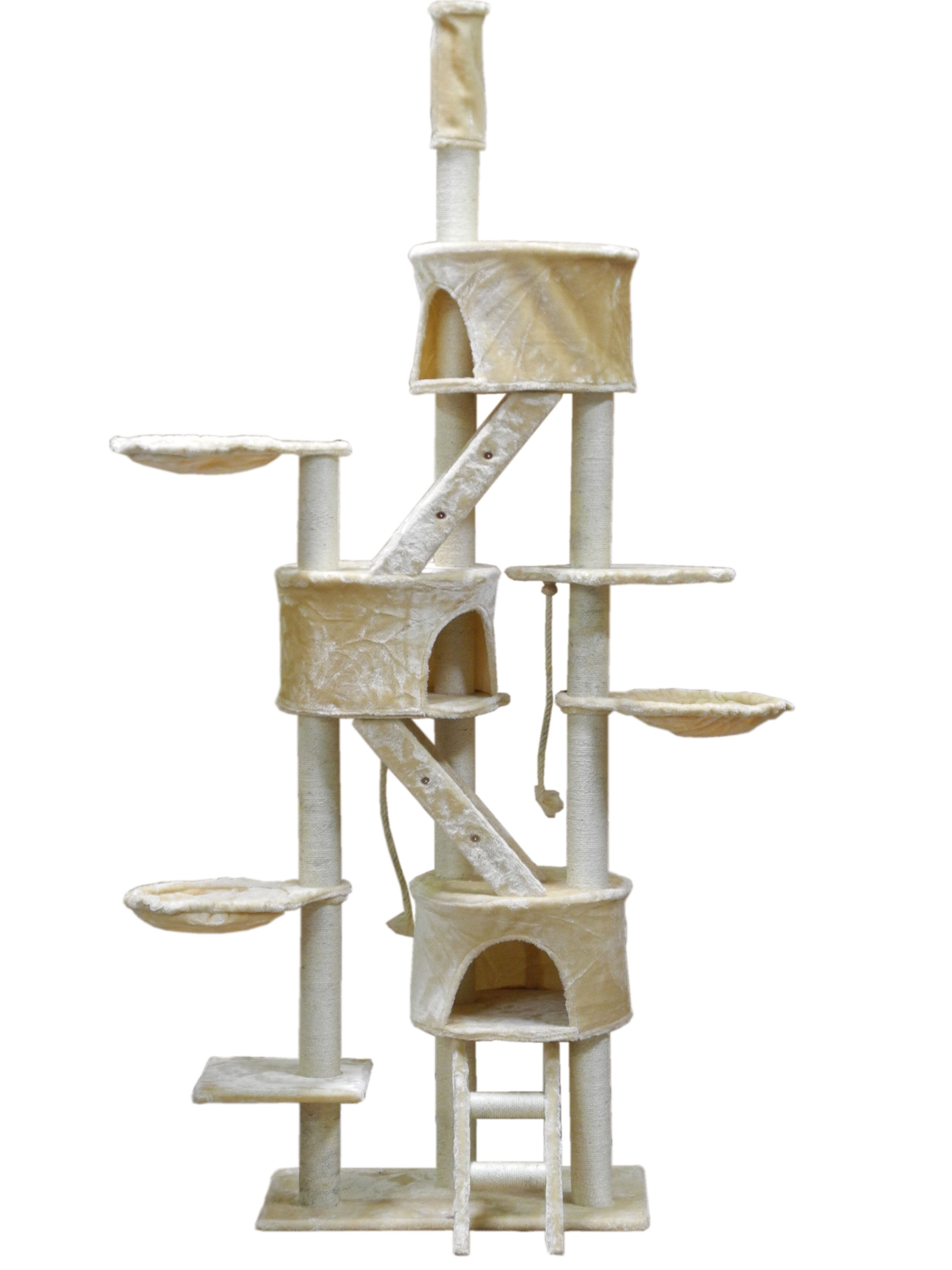 activity wooden condo cat sisal tree katz centers posts mini natural mau collections trees with and level hammock