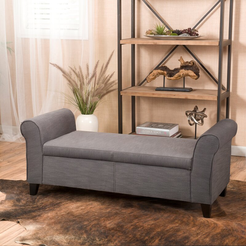 Alcott Hill Varian Upholstered Storage Bench & Reviews | Wayfair