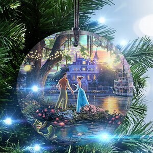 Thomas Kinkade (The Princess and the Frog) StarFire Prints Glass Hanging Ornament