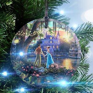 Thomas Kinkade (The Princess and the Frog) StarFire Prints Glass Hanging Ornament