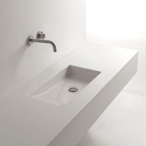 Whitestone Om Ceramic Specialty Undermount Bathroom Sink