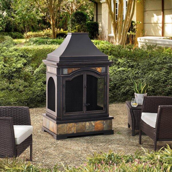 Sunjoy Monroe Steel Wood Burning Outdoor Fireplace Wayfair