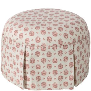 Cousteau Round Skirted Ottoman by August Grove