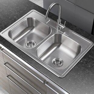 Double Basin Drop In Kitchen Sink