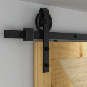 flat rail barn door hardware
