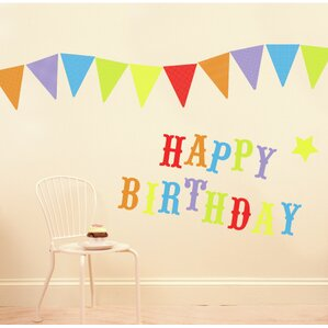 Happy Birthday Party Wall Decal Part 80