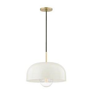 Modern contemporary large dome pendant light allmodern honore 1 light dome pendant aloadofball Choice Image
