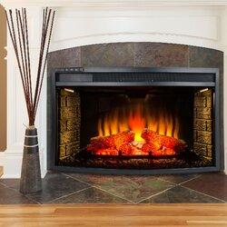 AKDY Freestanding Electric Fireplace Insert  Reviews Wayfair - Fireplace inserts electric