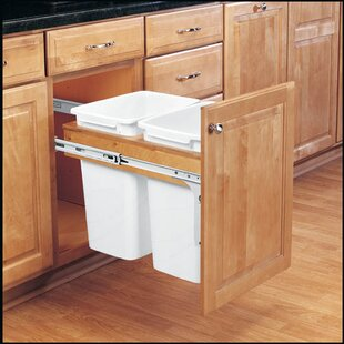 Double Top Mount 8.75 Gallon Pull Out/Under Counter Trash Can