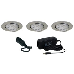 Recessed under cabinet lighting youll love wayfair slim disk led under cabinet recessed light kit aloadofball Images