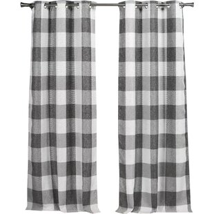 Rosenblum Plaid And Check Blackout Thermal Grommet Curtain Panels Set Of 2