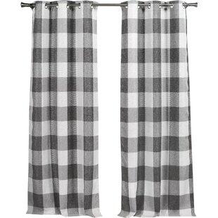 Rosenblum Plaid Blackout Grommet Curtain Panels Set Of 2
