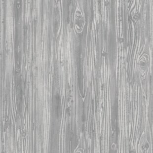 Cilley Textured Woodgrain Pewter 33 L X 20 5 W And Stick Wallpaper Roll