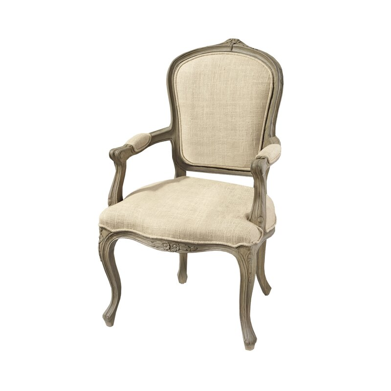 The Carlisle Louis XV Open Twill Armchair