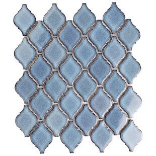 Arabesque 1 87 X 2 75 Porcelain Mosaic Tile In Blue