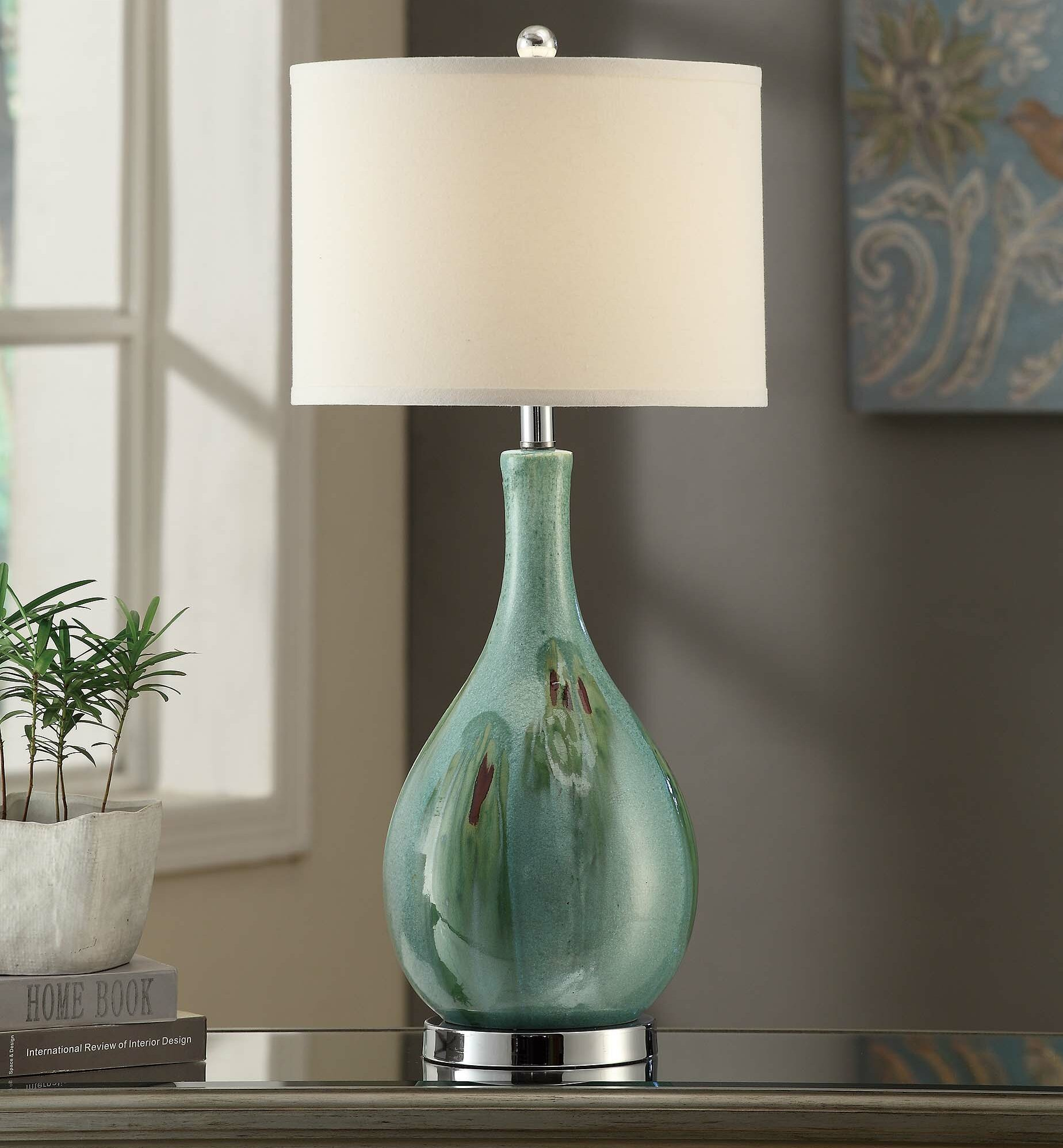 Beachcrest Home Osborne Sea Scape 30 Table Lamp Reviews Wayfair At Light Fixture Box Proceeds To First 3way Switch A 4