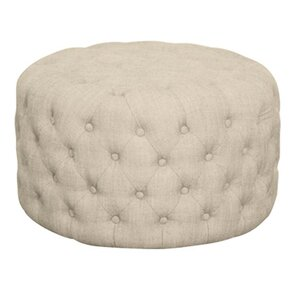 Lulu Round Tufted Ottoman by New Pacific Dir..