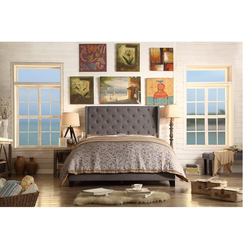 Alcott Hill Amir Upholstered Panel Bed Queen