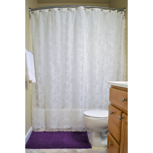 August Grove Andrade Lace Shower Curtain | Wayfair