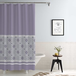 Nice Jaida Waterproof Printed 14 Piece Shower Curtain Set