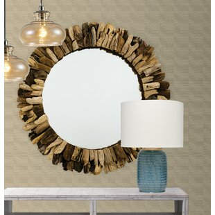 wood wall mirror. Round Wooden Accent Wall Mirror Wood