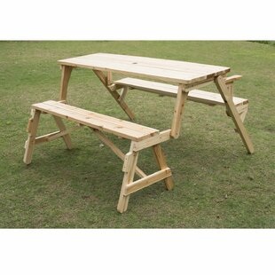 227a09eb6fe2 Wood Picnic Tables You'll Love | Wayfair