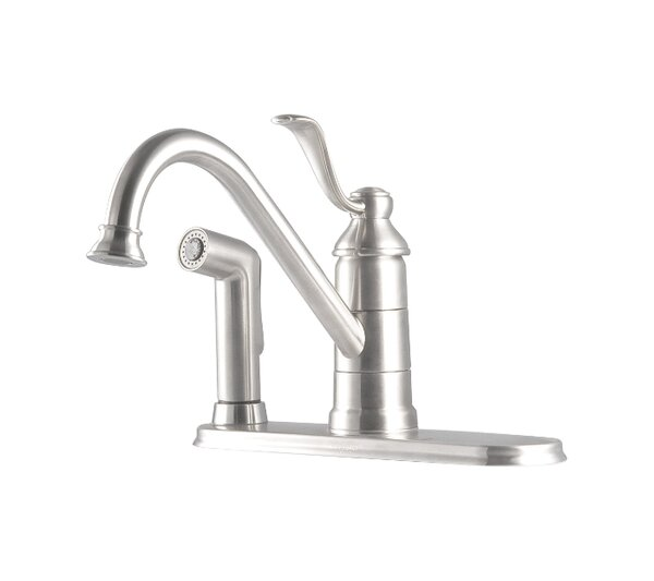 pfister portland single handle deck mounted kitchen faucet