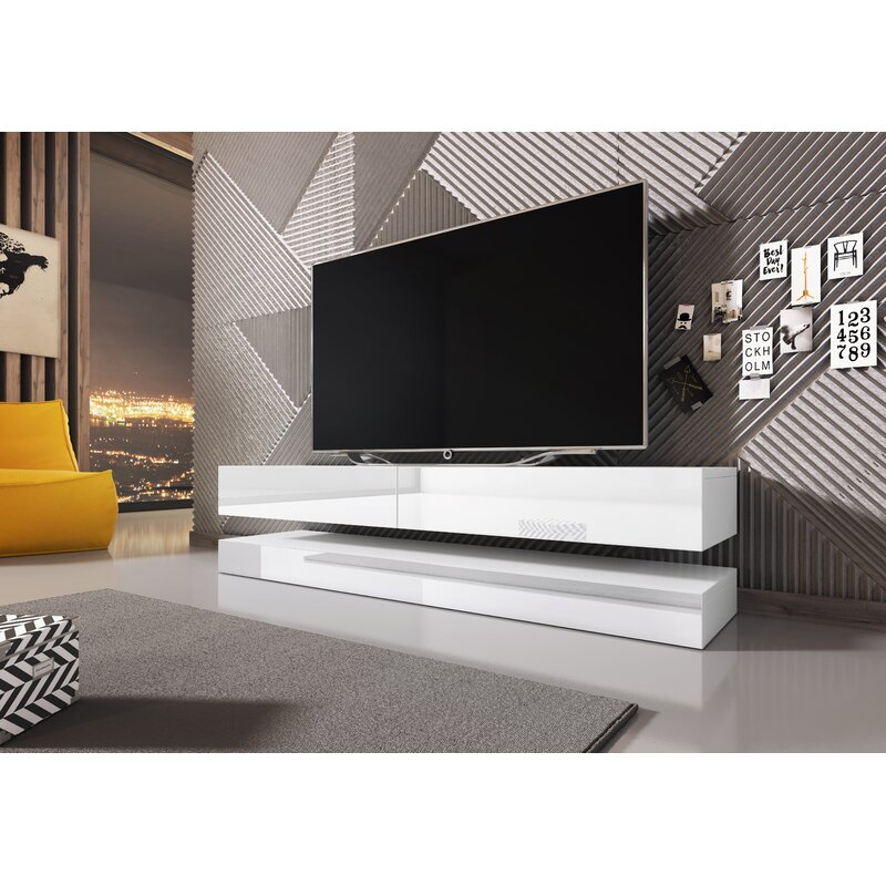 Orren Ellis Bassilly Tv Stand For Tvs Up To 55 With Led Lighting