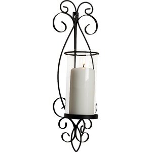 Glass/Iron Sconce (Set of 2)
