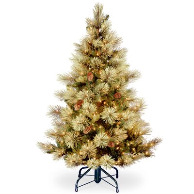 carolina 45 green pine artificial christmas tree with 450 clear lights with stand - Artificial Christmas Trees With Lights
