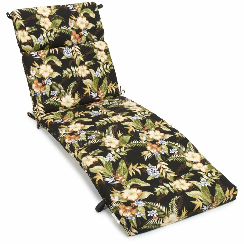 Blazing needles freeport outdoor chaise lounge cushion for Blazing needles chaise cushion