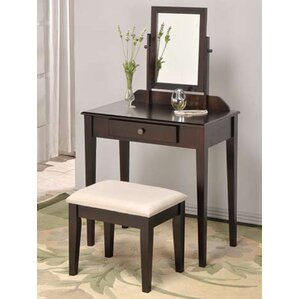 Mooney Vanity Set with MirrorMakeup Tables and Vanities You ll Love   Wayfair. Mirrored Makeup Vanity Set. Home Design Ideas
