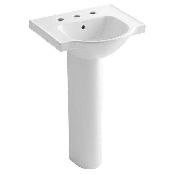 Kohler Veer 24 Pedestal Bathroom Sink With Overflow Reviews Wayfair