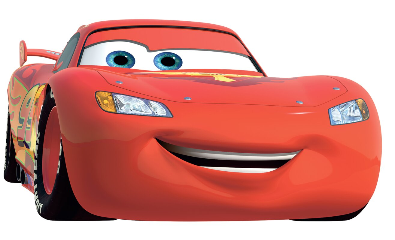 Room Mates Cars Lightning McQueen Number  Giant Wall Decal - Lightning mcqueen custom vinyl decals for car