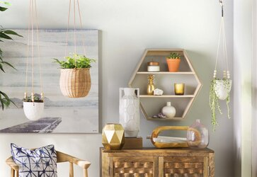 Top-Rated Display + Floating Shelving