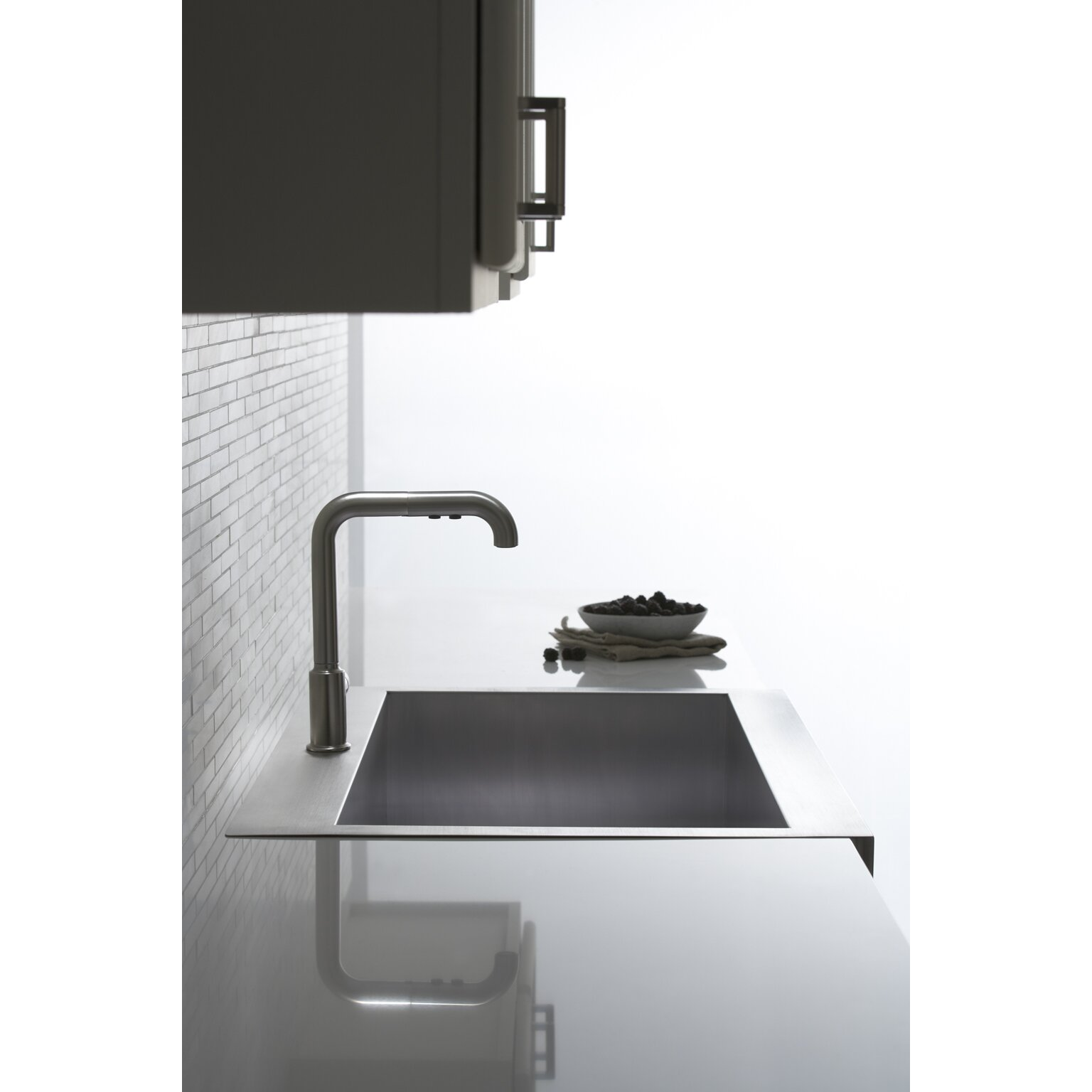 single kitchen sink kohler vault top mount single bowl stainless steel kitchen 2247