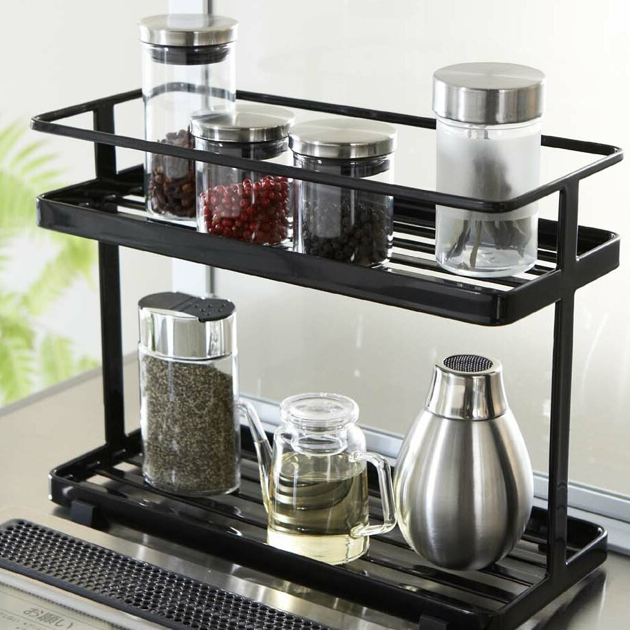 Small Countertop Spice Rack : Dining Kitchen Storage ... Counter Top Spice Jars & Spice Racks ...