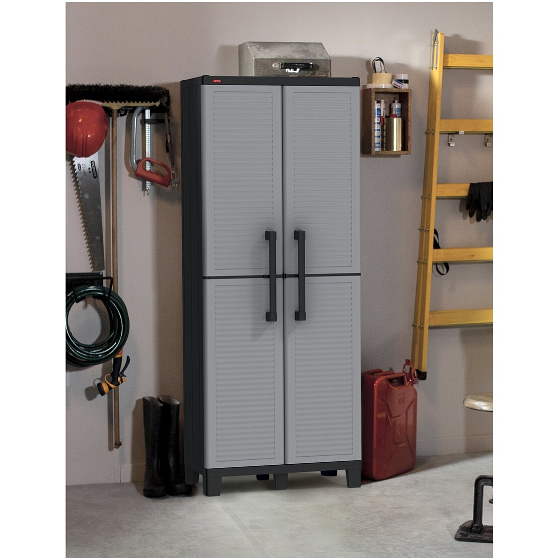 "Tips For Buying Garage Utility Cabinets: Keter Space Winner 64"" H X 27"" W X 15"" D Tall Utility Storage Cabinet & Reviews"