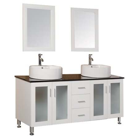 Dcor Design Palm Springs 60 Double Bathroom Vanity Set With Mirror Reviews