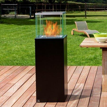 Bio blaze column ventless steel bio ethanol fuel outdoor for Ethanol outdoor fire pit
