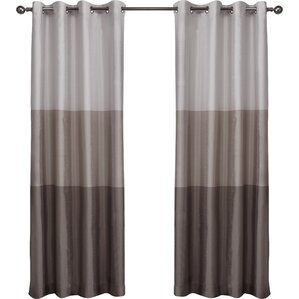 Newton Striped Semi Sheer Grommet Curtain Panels (Set Of 2)  Grey Striped Curtains