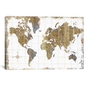 Gilded Map Canvas Print