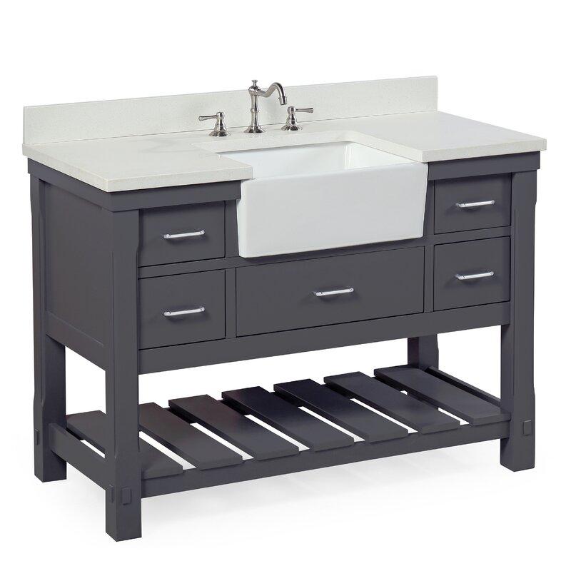 Kbc Charlotte 48 Single Bathroom Vanity Set
