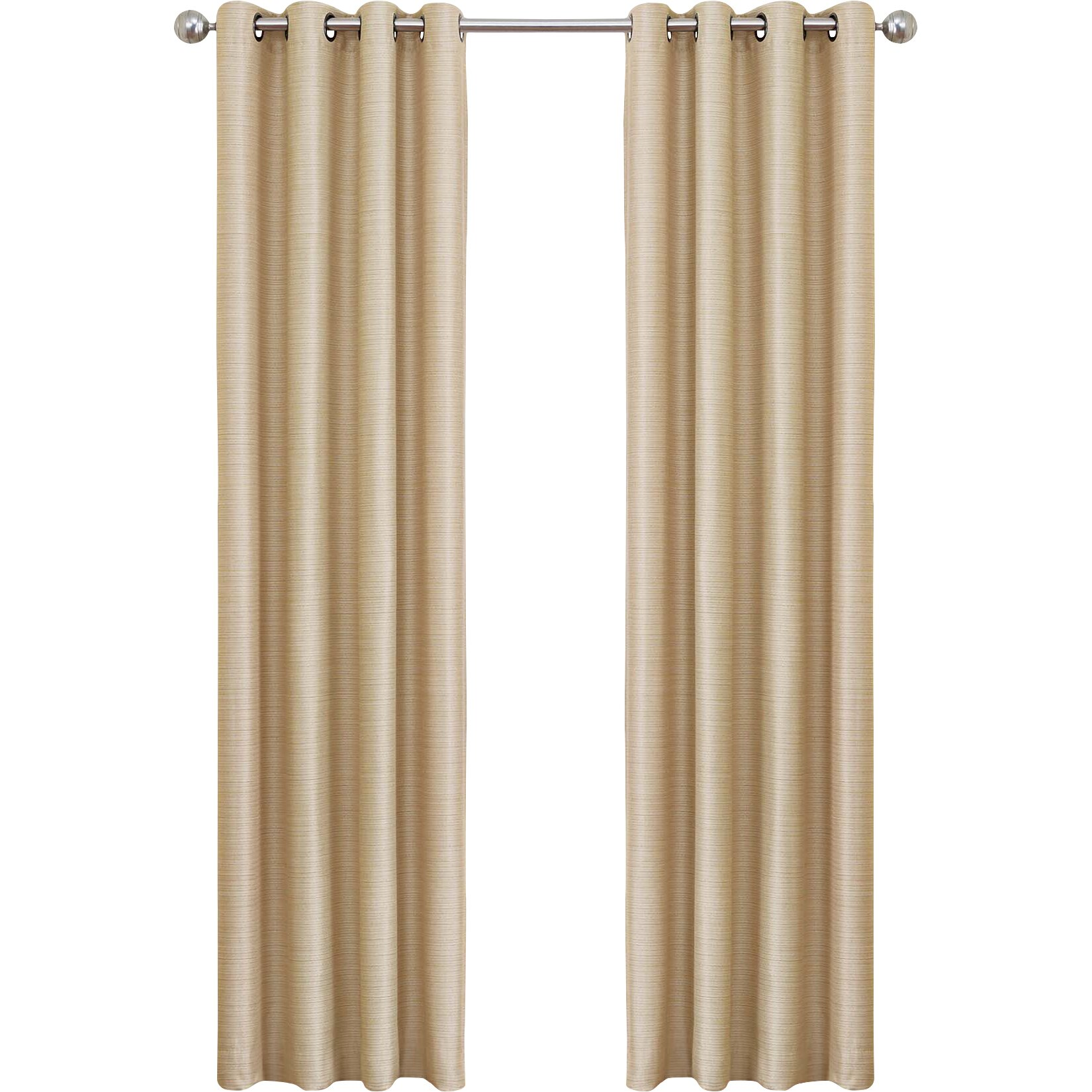 Marvelous ... Grommet Curtains 108 Length By Varick Gallery Mcgriff Solid Blackout  Grommet Single ...