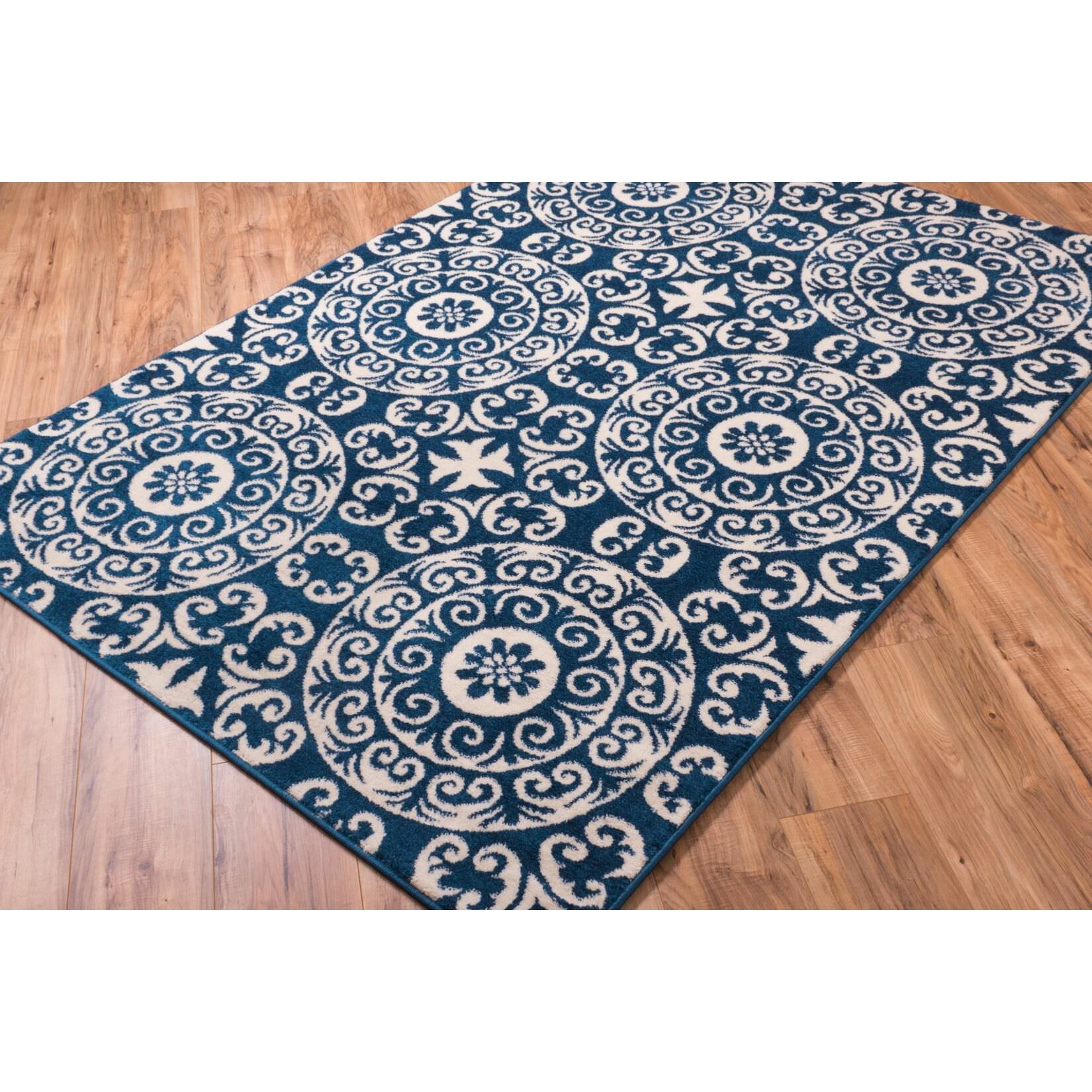 navy blue and white area rugs