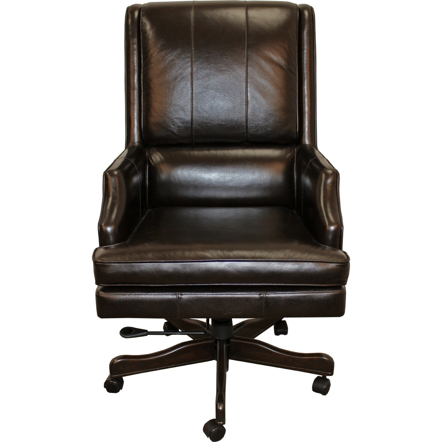 parker house leather executive chair reviews wayfair. Black Bedroom Furniture Sets. Home Design Ideas