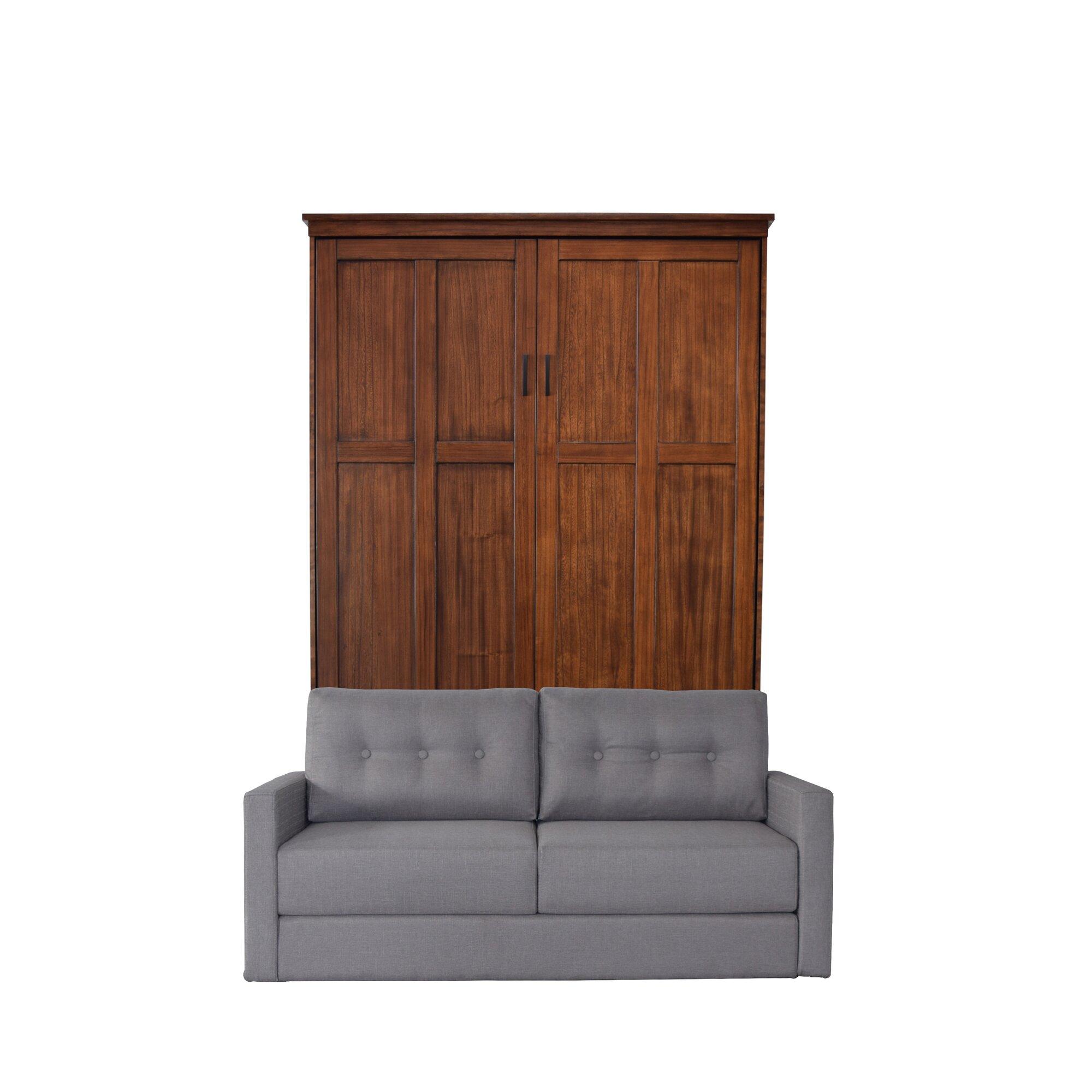 Red Barrel Studio Merrionette Queen Murphy Bed with Sofa ...