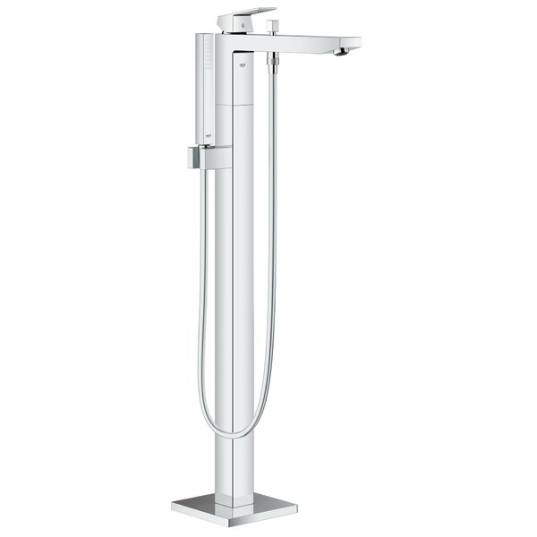 Grohe Eurocube Floor Mounted Tub Filler Trim With Hand Shower | Wayfair