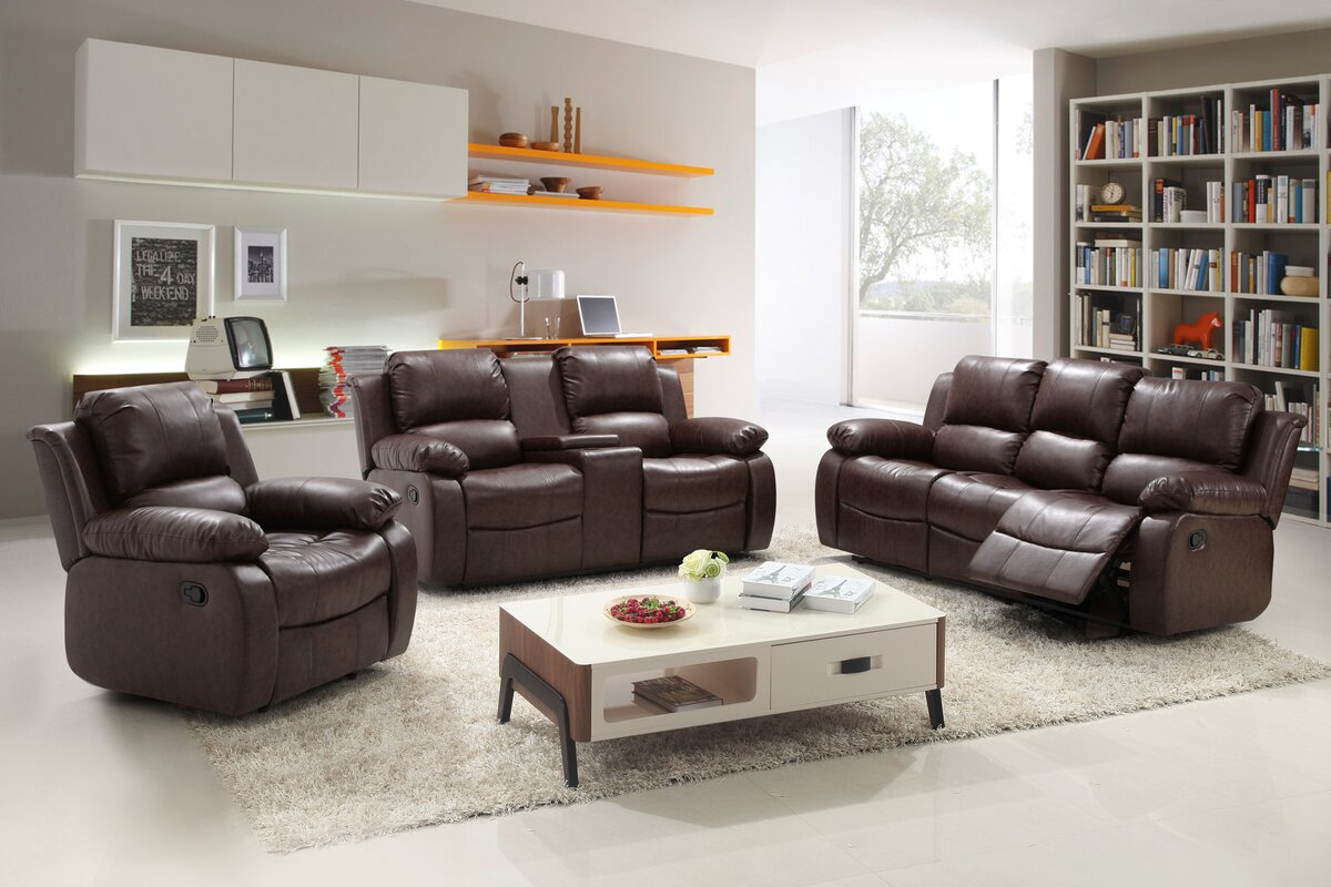 Living In Style Reno 3 Piece Reclining Living Room Set Reviews